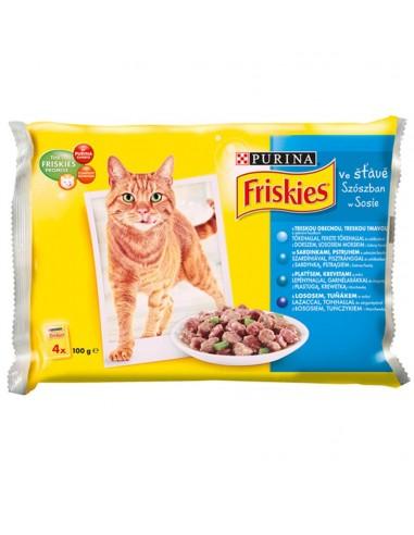 Friskies preliv  za mačke, MPK riba 4x100 gr
