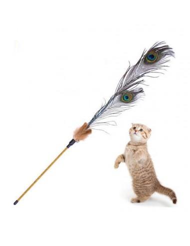 Igračka za mace, pecaljka sa perom