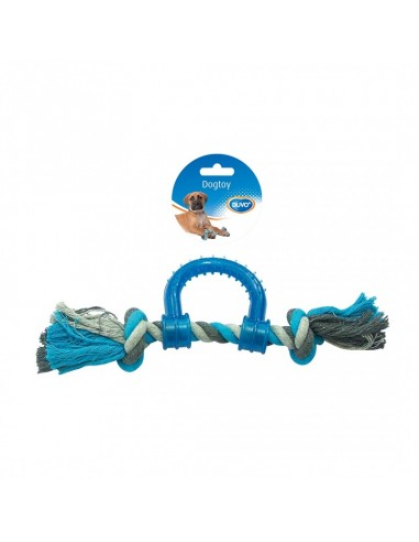 Duvo Tug toy knotted cotton pull ring...
