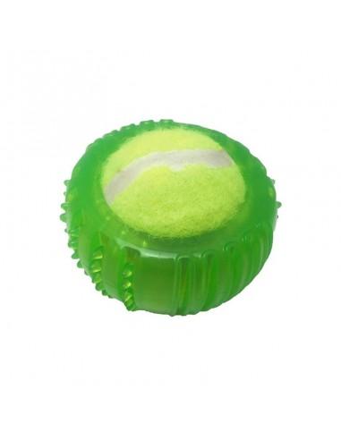 Teniska loptica sa zelenim okvirom